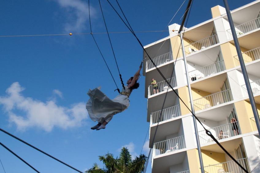 Destination Wedding Jamaica Trapeze