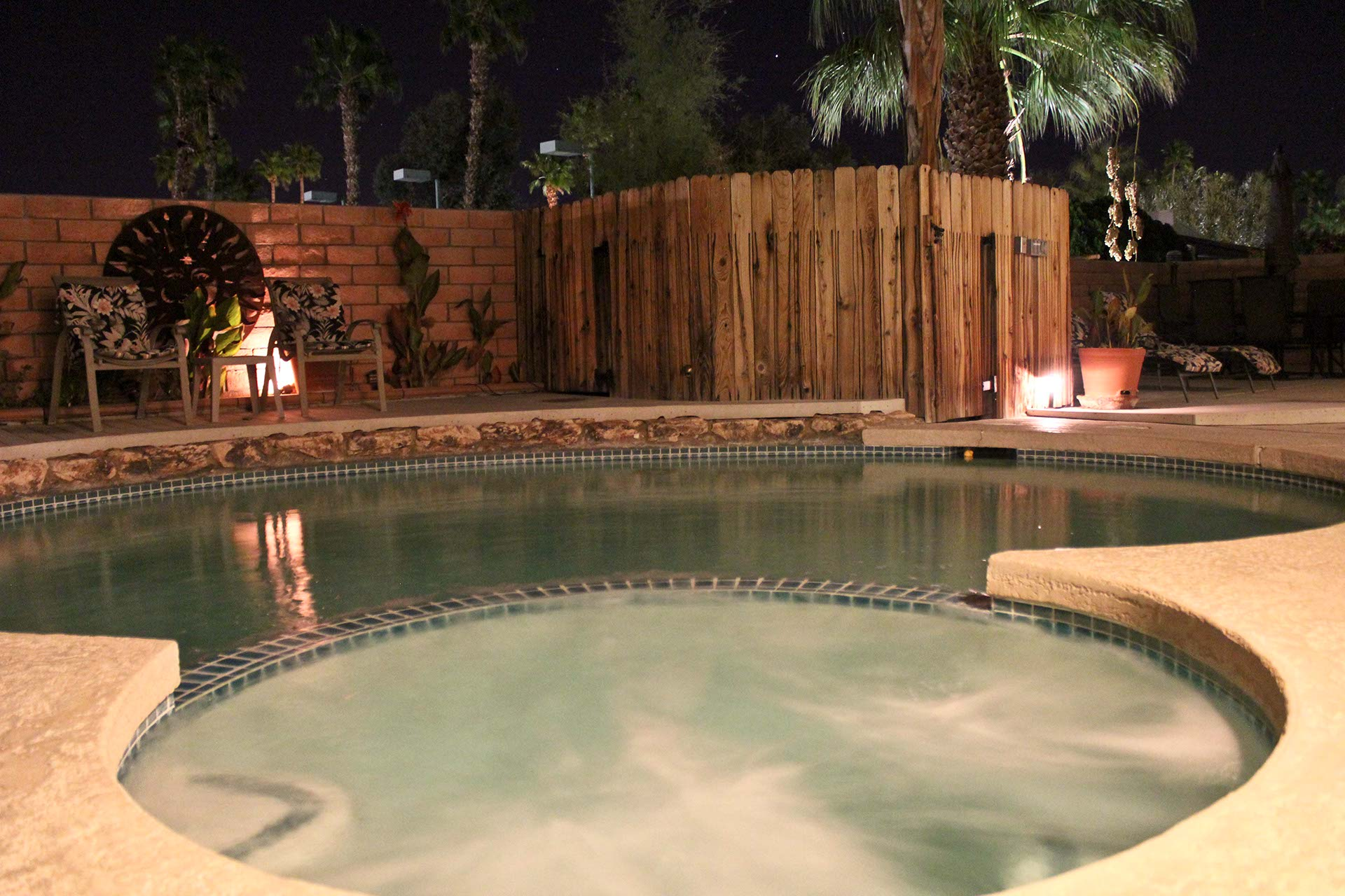 Soak up the perfect blend of relaxation and outdoor for Garden oases pool entrance