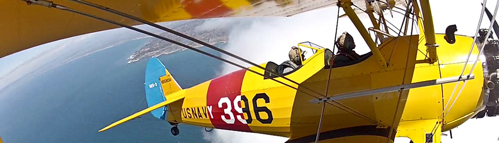 biplane flight adventure California