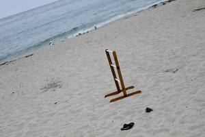 ladder golf on the beach