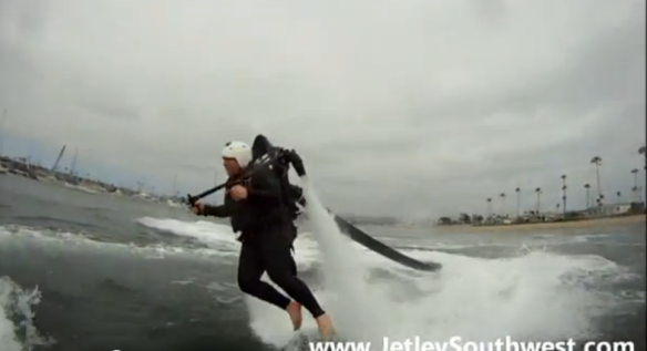Jet pack flight Newport Beach California