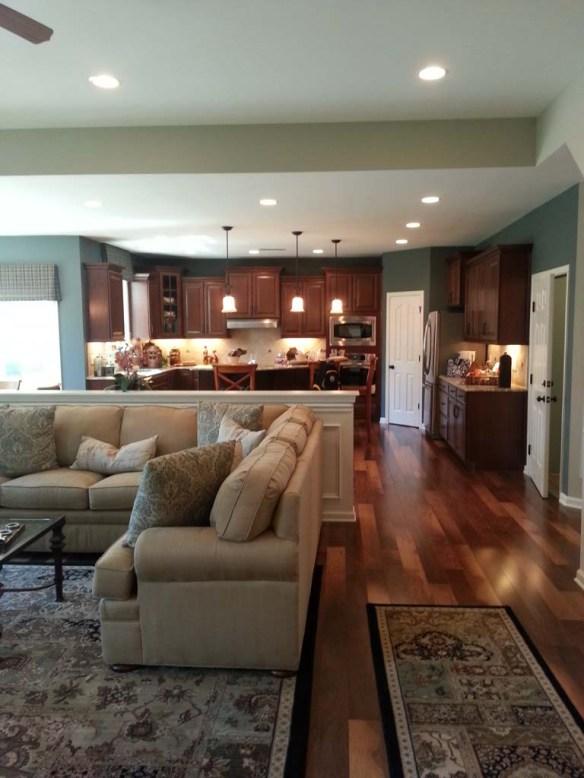 Preston Craftsman Elevation Orleans Homes - Livingroom
