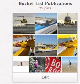 Bucket List Publications Pinterest Board
