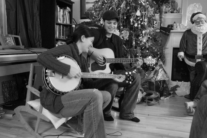 Norman and I playing at Christmas