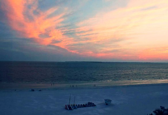 Pink Shell Resort Sunset