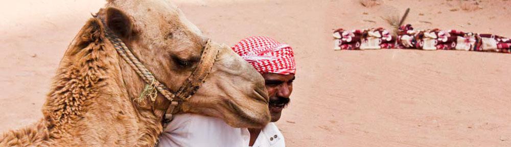 Wadi-Rum-Camel-Ride,-Jordan