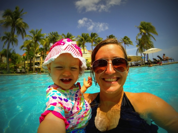 Swimming at the Marriott Curacao