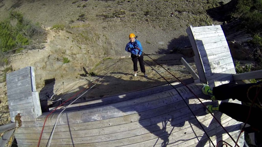 Rappelling at Cape Enrage, NB