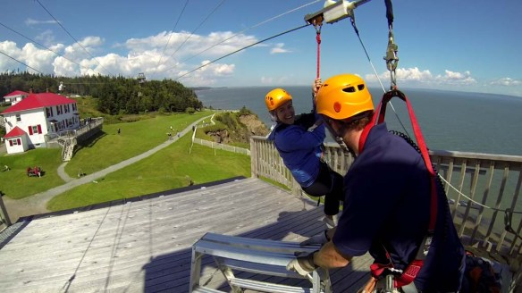 Ziplining at Cape Enrage, New Brunswick