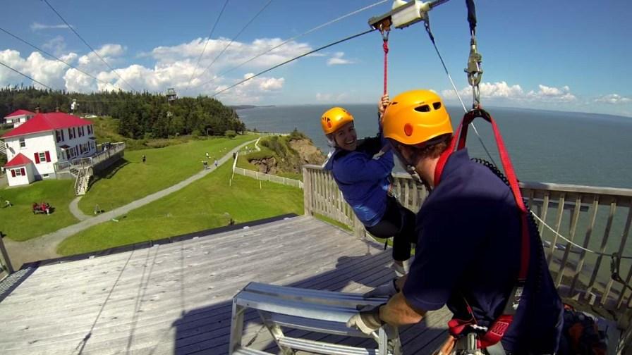 Zipline at Cape Enrage, NB