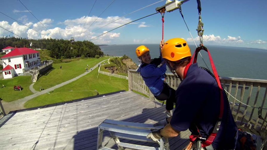 Zipline at Cape Enrage, NB