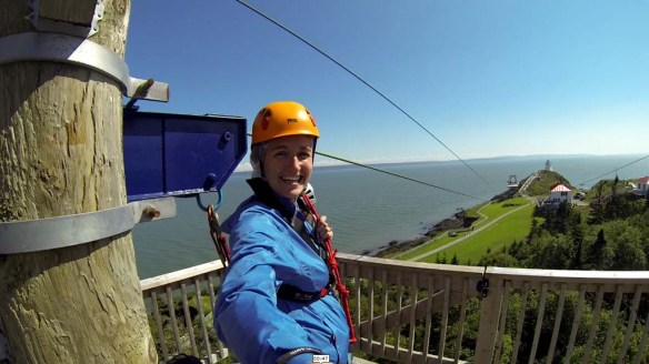 Ziplining at Cape Enrage, New Brunswick