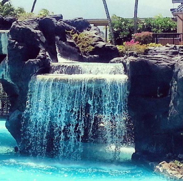 Hilton Waikoloa Pool Waterfall