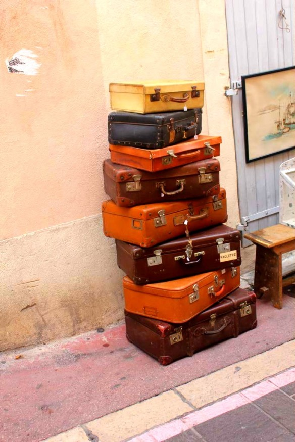 Suitcases in Marseille