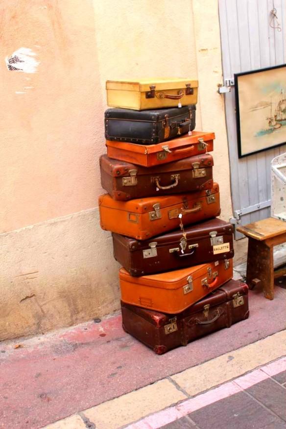Suitcases in Marseille