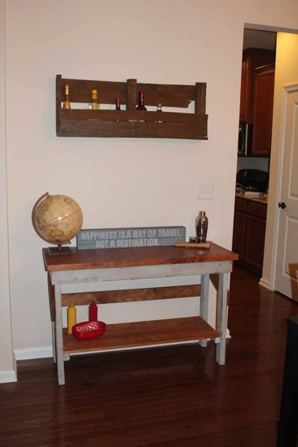 Dining Room Chopping Block and Wine Rack