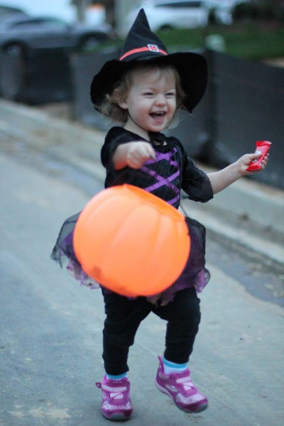 Trick or treating on Halloween