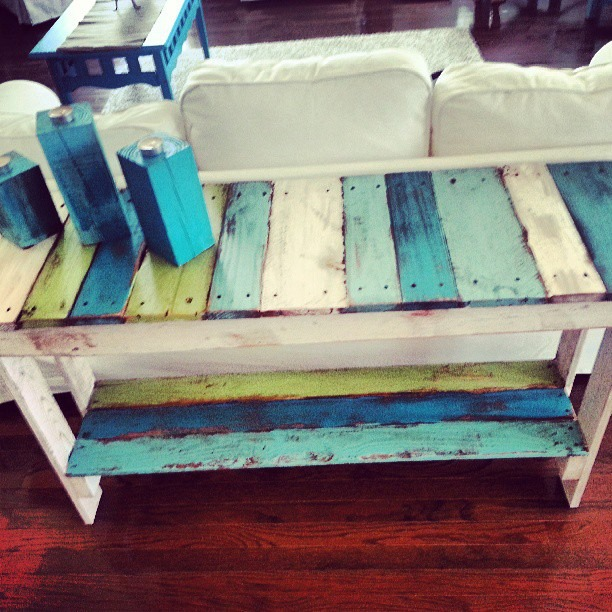 Sofa table diy pallet bucket list publications for Sofa table made from pallets