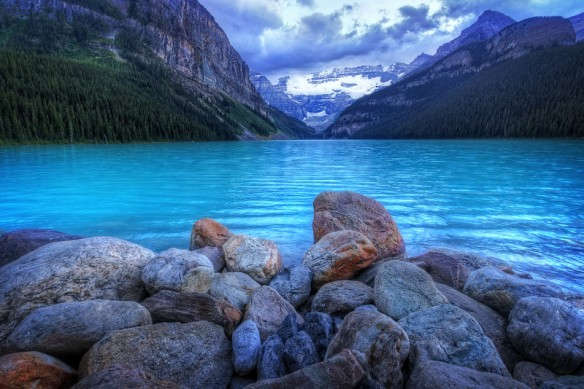 Icy Blue Water of Lake Louise-Alberta