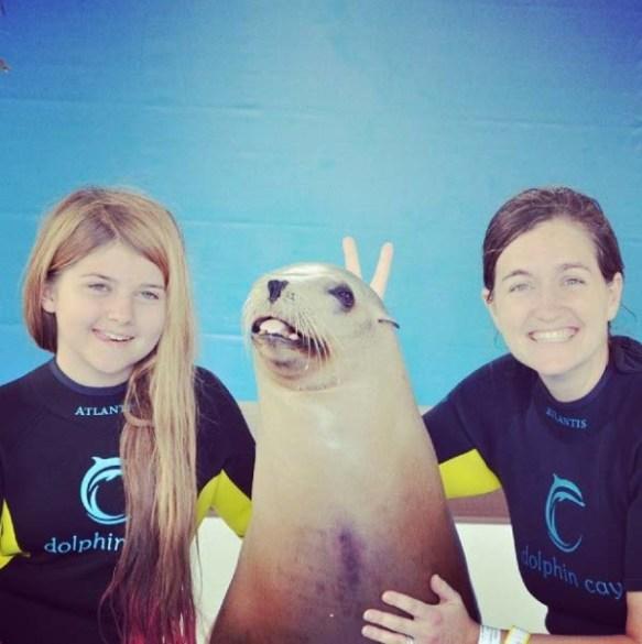 Funny Sea Lion, Atlantis, Bahamas