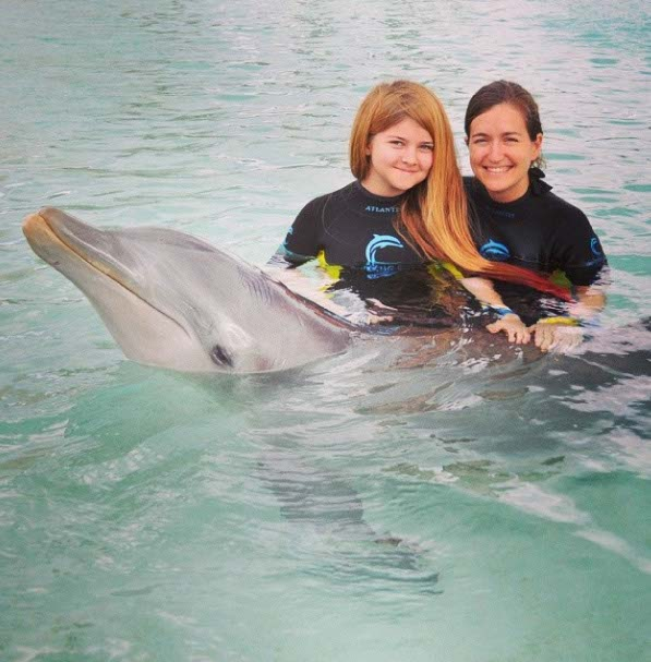Swimming with Dolphins at Atlantis, Bahamas