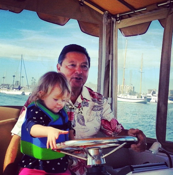 Athena driving the Duffy Boat