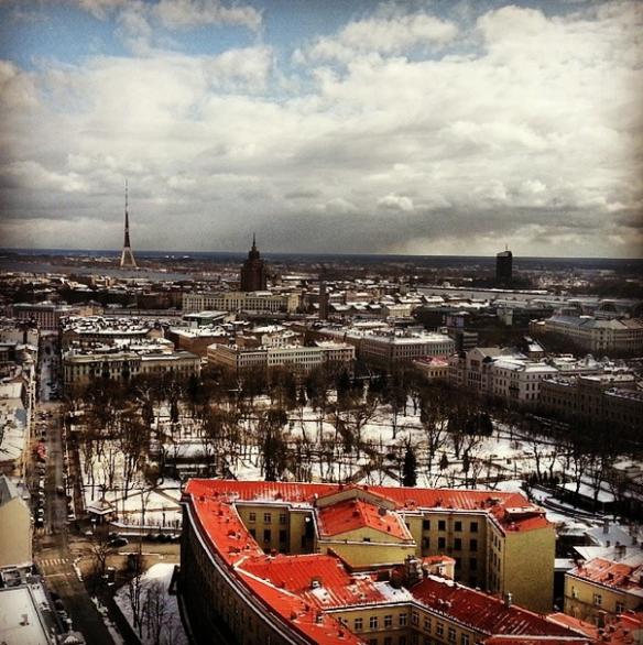 Buildings in Riga, Latvia