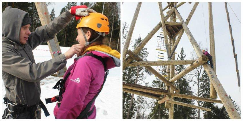 Climbing Tower in Sigulda, Latvia
