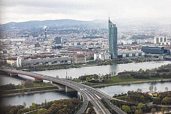 View of Vienna from DONAUTURM