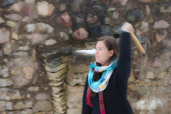Axe Throwing at Sigulda Castle