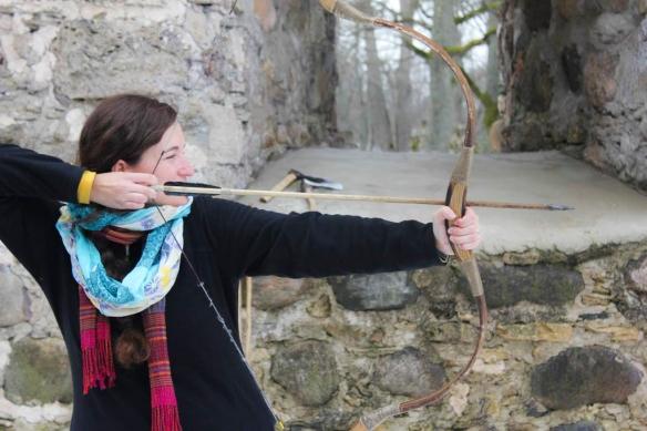 Archery at Sigulda Castle