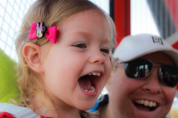Athena's Excitement at Disneyland