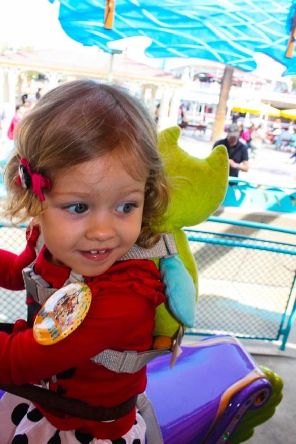 Riding on King Triton's Carousel at Disneyland