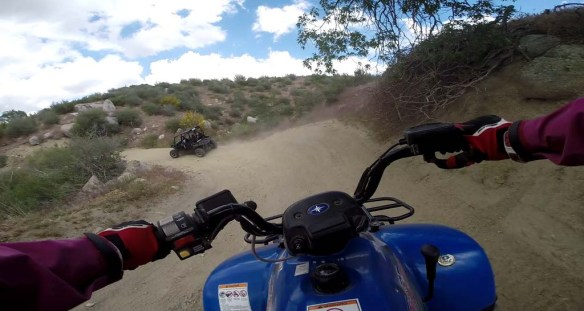 Driving a quad with Enjoy the Mountain