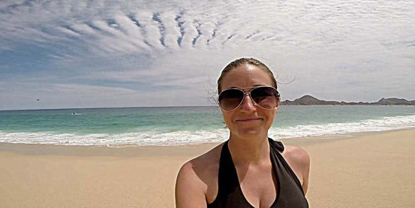 Playing on the beach at Riu Cabo