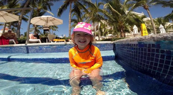 Athena in the Pool at Riu Palace