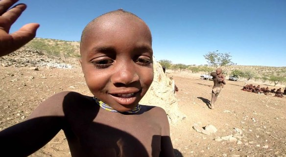 Himba Boy Waving, Namibia