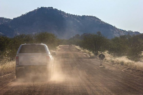 Driving-in-Namibia