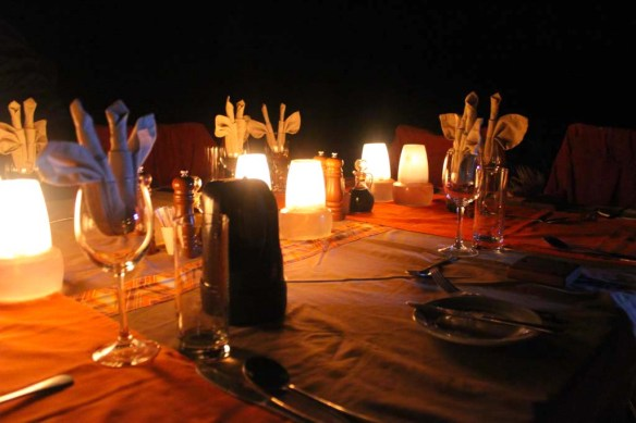 Dinner at Doro Nawas Camp, Namibia