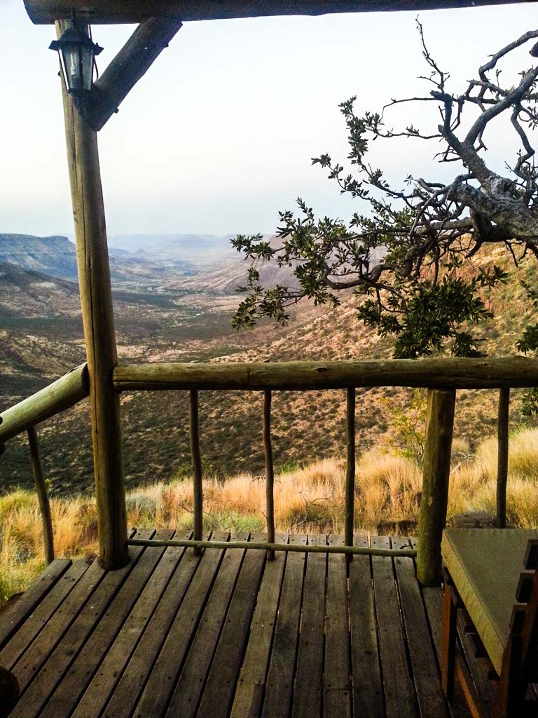 View from Grootberg Lodge, Namibia