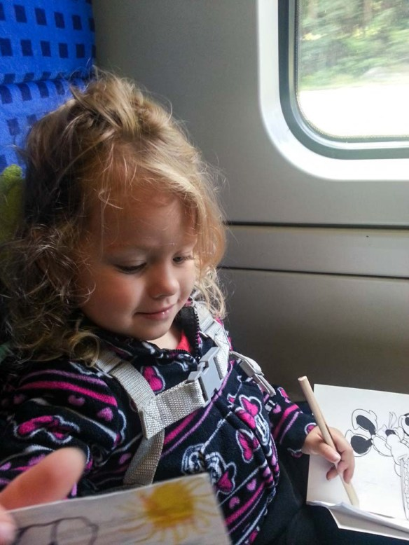 Athena on the Train in Germany