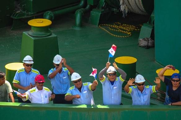 Panama Canal Ship Crew
