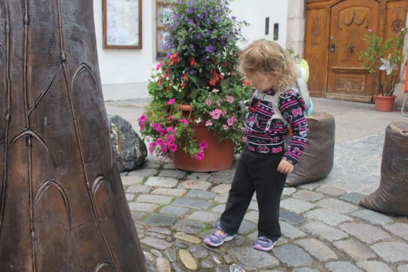 Curious Athena in Fussen, Germany