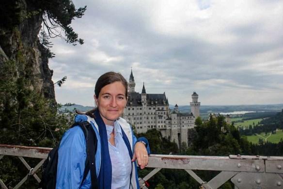 Standing on the bridge at  Neuschwanstein Castle