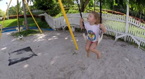 Athena on the Swing at Windjammer Landing