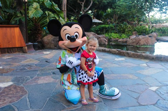 Mickey Mouse at the Character Breakfast, Aulani