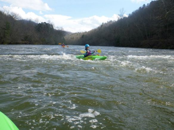 White Water Kayaking Rapid