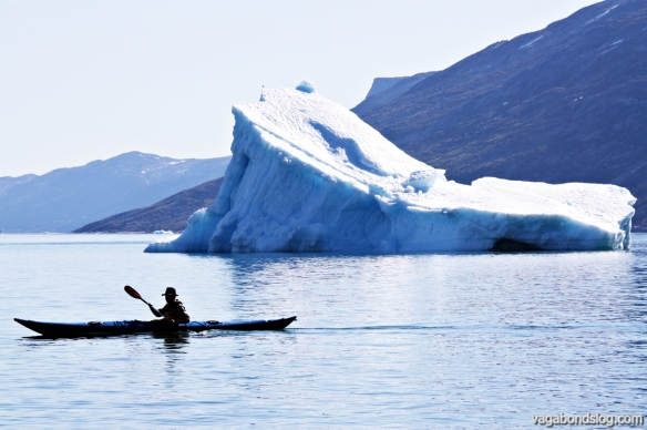 Among icebergs