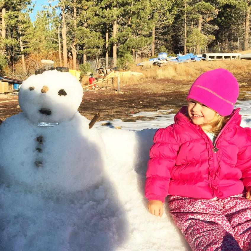 Snowman at Magic Mountain, Big Bear