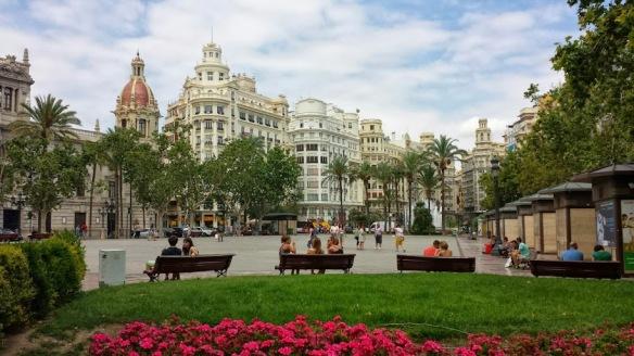 Plaza del Ayuntamiento in Valencia